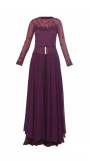 Plum Kurta and Palazzo Pants